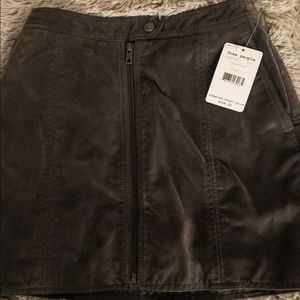 NWT! Free People faux leather mini skirt